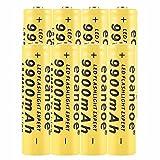 8 pcs 18650 Batería Recargable de Iones de Litio 3.7V 9900mah Baterías de botón de Gran Capacidad para Linterna LED, iluminación de Emergencia, Dispositivos electrónicos, etc