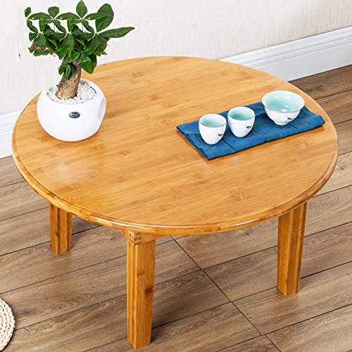 ZHIRONG Table pliante portative, table ronde de pique-nique de table à manger, table basse (taille : 70 * 32cm)