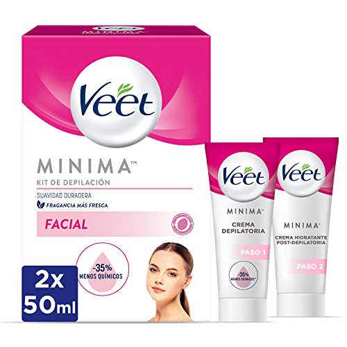 Veet Kit Crema Depilatoria Facial + Crema hidratante post-