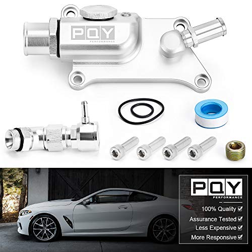 PQY Upper Coolant Housing Straight Inlet with Integrated Filler Neck Compatible with Honda K24 K20Z3