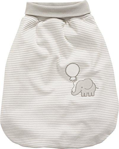 Schnizler Baby Schlafsack, Strampelsack Elefant mit elastischem Umschlagbund, Beige (Natur 2), One size