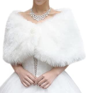 iShine Kunstpelz Braut Schal Brautschal Brautjacke Cape für Hochzeit Party Prom