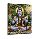 FireDeer Shiva Portrait India Religion Poster Picture On The Wall Art Canvas Paintings Prints Living Room Decoration Home Decor (No Frame,18x24inch)