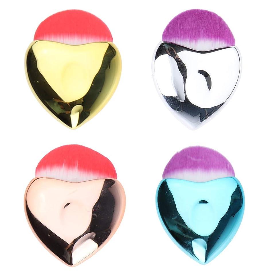 祝福する電話するジャムP Prettyia 4個 メイクアップブラシ パウダー ファンデーション ブラッシュ 化粧ブラシ