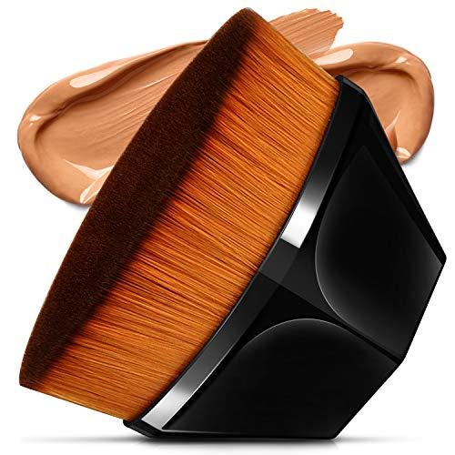 Foundation Pinsel Make-up Pinsel Kabuki Flat Top Gesicht Pinsel Groove Design Blush Pinsel zum Mischen von Flüssigkeit, Creme, Concealer Premium