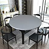 Spann Tischdecke Rund Elastische Gartentischdecke Outdoor Tischdecke Wasserdicht Rutschfestem Runden Tischdecken mit Gummizug grau 90cm