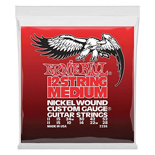 Cuerdas de la guitarra eléctrica de 12 cuerdas Entorchado de níquel mediano...
