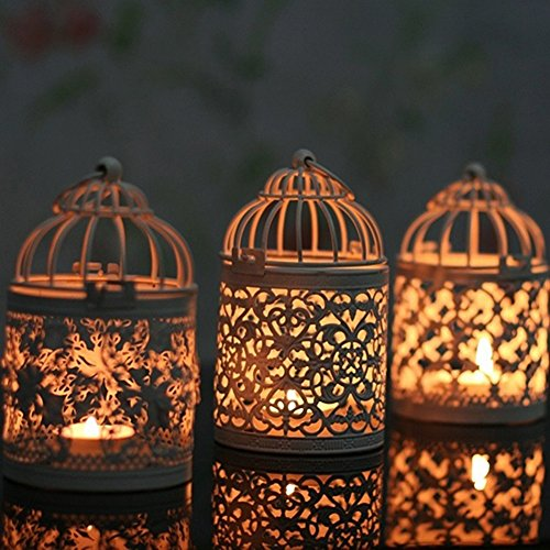 lightclub Hanging Hollow Candle Holder Stand Antique Moroccan Style Lantern Wedding Decor Style A