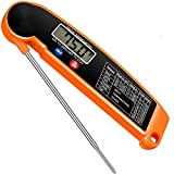 Meat Thermometer, Ultra-Fast Read Digital Food Cooking Thermometer with Backlight LCD, Foldable Long