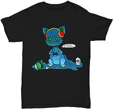 SunPoint Techno Kitty Cute Funny Gamer Kitty - Unisex Tee