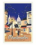 AZSTEEL Poster Montmartre | Poster No Frame Board for