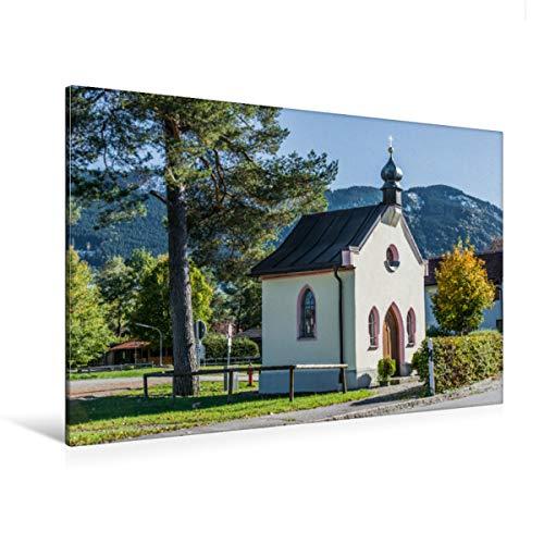 Premium Textil-Leinwand 120 x 80 cm Quer-Format Achkapelle, Trauchgau | Wandbild, HD-Bild auf Keilrahmen, Fertigbild auf hochwertigem Vlies, Leinwanddruck von Foto-FukS