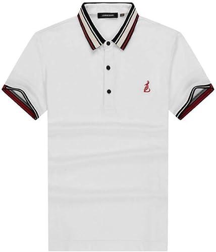 CZPF Chemise de Compression pour Hommes T-Shirt à Manches Courtes pour Hommes Slim N Polo pour Hommes Revers