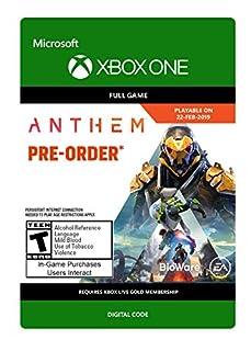 Anthem - Xbox One [Digital Code] (B07N1L3L3S)   Amazon price tracker / tracking, Amazon price history charts, Amazon price watches, Amazon price drop alerts