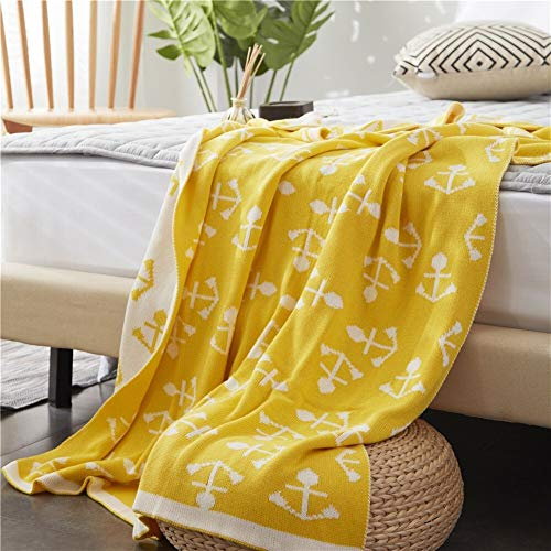 BZRXQR Versátil Sofá Lanza Caliente Manta Gruesa Sillón Cubierta Suave sofá (Color : Yellow, Size : 110x130cm)