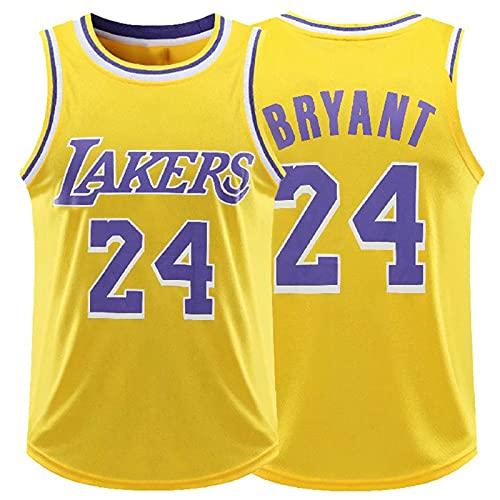 GAOXI Jersey de Baloncesto de los Hombres # 23 James, Hombres y Hombres de Secado rápido y Mujeres Lakers # 24# 8 Jersey Fans Deportes sin Mangas Camiseta (L-5XL) Yellow 24-XXXXXL