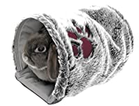 A cosy sleeping tunnel Ideal for rabbits, guinea pigs or ferrets Reversible (soft plush or polycotton) Can be machine washed at 30˚ 28cm long x 20cm wide Item display weight: 0.00017 kilograms. Age range description: Adult.