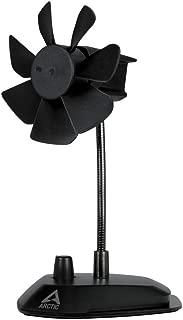 ARCTIC Breeze - USB Desktop Fan with Flexible Neck and Adjustable Fan Speed I Portable Desk Fan for Home, Office I Silent USB Fan I Fan Speed 800 - 1800 RPM - Black