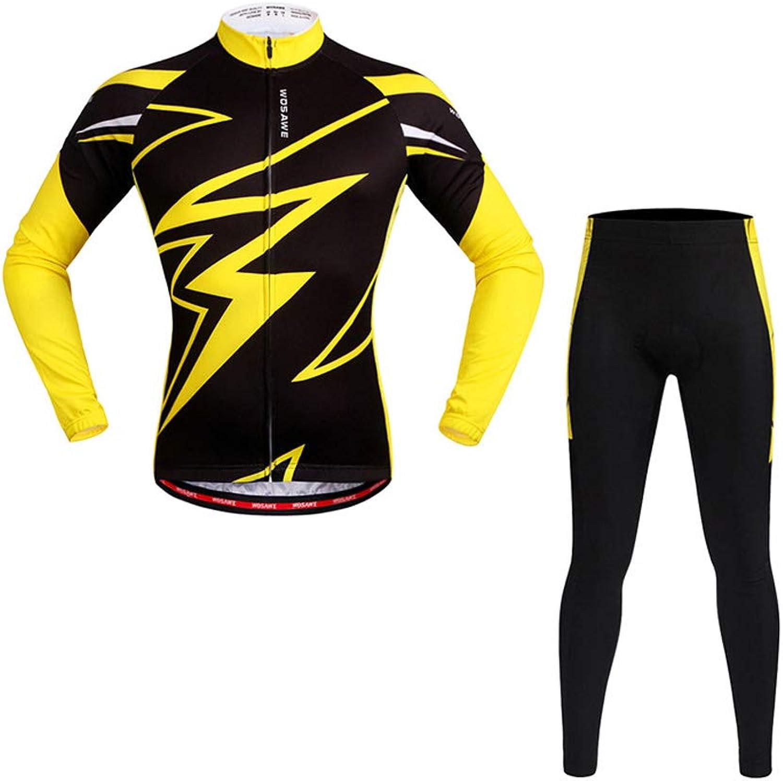Ldd-qxf Gelbes Hemd Frühjahr und Herbst langrmeliger Jerseyanzug Fahrrad schnell trocknende Anzug Silikonkissen