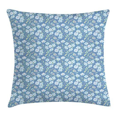 Fleeting Art Studio Funda de almohada cuadrada con diseño de ramas de flores, árboles, primavera, flores, crecimiento de la naturaleza, 3D, para decoración de sofá, 40 x 40 cm, 3 unidades