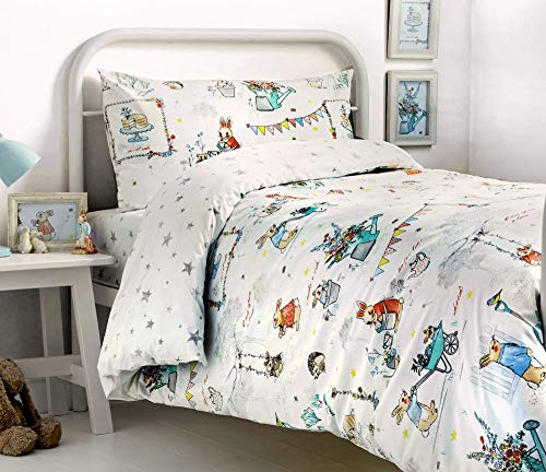 Bedlam Billy Bunny Tea Party' Childrens Duvet Cover Set, Double