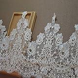 YDY Garniture de mariée de décoration de Robe d'accent de chapellerie de Tissu de Garniture de Dentelle d'Alençon de Fluorescence