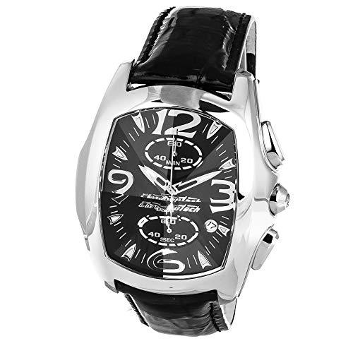 Chronotech Herren Analog Quarz Uhr mit Leder Armband CT7895M-92