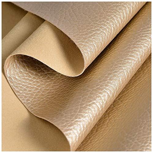 DT-DT Polipiel para Tapizar, Tela de Cuero Dorado Claro Simple Resistente a Las Manchas Impermeable Adecuado para Bricolaje a Mano Decoración del hogar Tela de Cuero Artificial PU (Size : 6m/20ft)