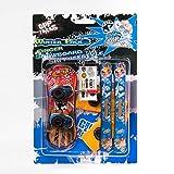 Grip&Tricks - Finger Winter Pack 1 - Finger Snowboard Ski Freestyle - Mini Snowboard and Ski Frestyle
