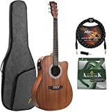 Best Acoustic Electric Guitars - ADM Full Size Acoustic Electric Solid Top Guitar Review