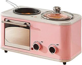 Ashey Máquina de Desayuno eléctrica 3 en 1 para el hogar, Mini Horno Tostador de Pan Tostado, sartén para Tortilla, Olla Caliente, Caldera de Vapor