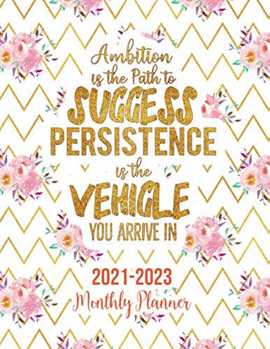 2021 - 2023 Three Year Monthly Planner: Ambition is the path to success. Persistence is the vehicle you arrive in 3 Year Monthly Planner from January ... Holidays Schedule Organizer Agenda Notebook