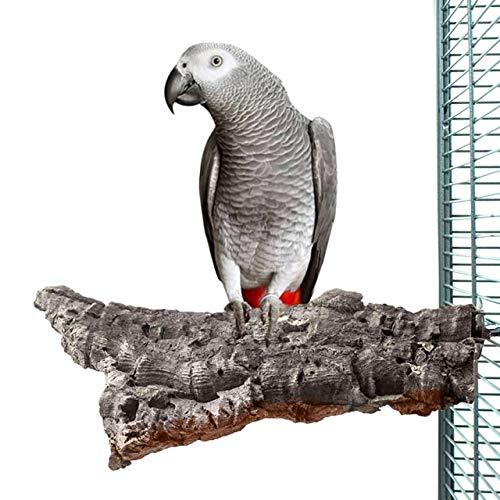 HappyBird ® | Kork-Sitzbrett XXL für Papageien ca. 25 x 15 cm mit Edelstahlschrauben