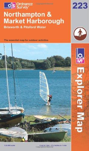 OS Explorer map 223 : Northampton & Market Harborough