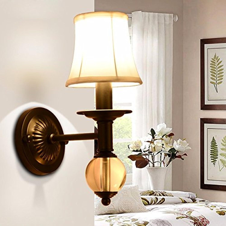 Modern LED Wandleuchte Kristallwandlampe des einzelnen Kopfes kreative Wohnzimmerlampe Schlafzimmernachttischlampe Balkongang Gewebewand Kaffeestube, Büro.Vintage Retro Café Loft Bar Flurlampe.