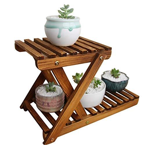 GMIN massief hout bloemenrekken mini meerlagige bonsai frame office bureau vensterbank bloem rekken bloempot plank scherm (grootte : 42cmx20cmx27cm)
