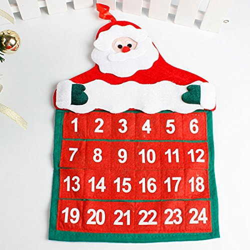 Decorations Home - Christmas Countdown Calendar Santa Claus Snowman Deer Hanging Advent Decorations - Decorative Beachy Home Theater Decorations Decoration Hanging Skull Decor