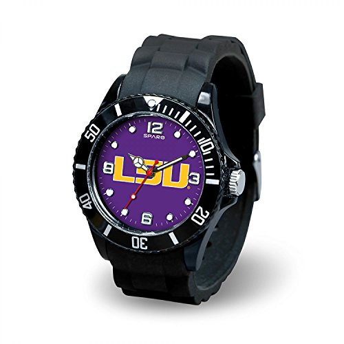 Rico Industries NCAA LSU Tigers Spirit Watch, Black