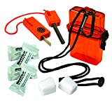 ust Fire Starter Kit 1.0 with Waterproof, Impact Resistant Design, Essential Fire Starting Tools and Lanyard for Camping, Hiking, Emergency and Outdoor Survival, Orange, One Size (20-729-01)