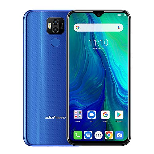 Ulefone Power 6 Big Battery 4G Mobile,6350mAh,6.3' FHD MT6765V Octa-core 64-bit 2.3GHz,Android 9.0 4GB RAM 64GB ROM Mobile,Dual SIM,Unlocked Mobile Phone (2019 New) (Blue)
