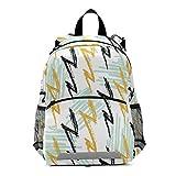 Mnsruu Sac à dos pour enfant, motif zigzag géométrique, pour école maternelle, maternelle, maternelle, maternelle, maternelle, enfant, sac de voyage, sac à livres
