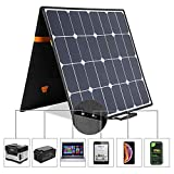 Kingsolar Solar Charger 100W Portable Solar Panel Charger with 5V USB 18V DC Dual Output Waterproof...