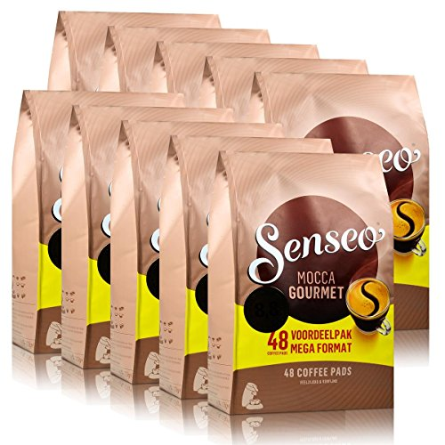 Senseo Coffee Pods, Mocca Gourmet, 48 Count (Pack of 10) - 480 Pods by Douwe Egberts