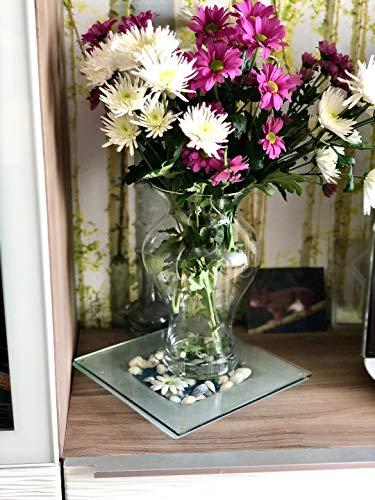 Maison Zoe Mundgeblasene und Handgefertigte Glasvase Flora - 30cm hoch - Blumenvase - Deko & Hochzeit