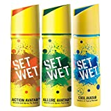 Set Wet Cool, Action and Allure Avatar Deodorant & Body Spray Perfume For