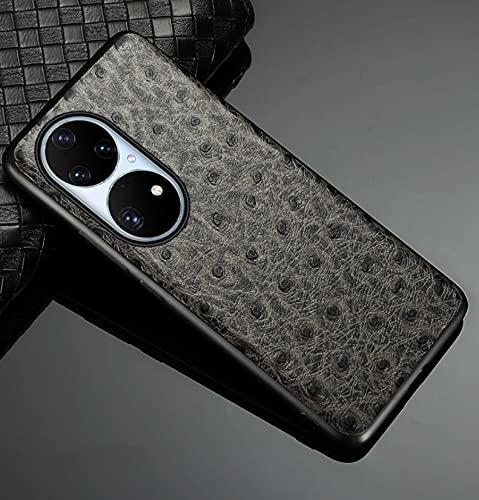LONGSAND Compatible con la Cubierta Protectora de Huawei P50 / P50 Prop Peat CUERTY Funda para Mujer para Mujer Moderna PU Simple PU,Gris,P50 Pro
