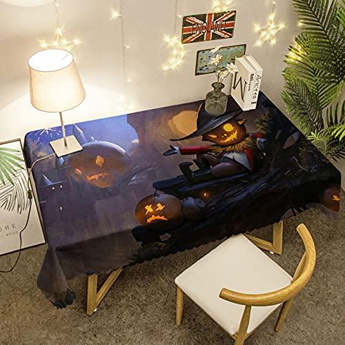 JXILY Tovaglia Impermeabile Tovaglia di Halloween Tovaglia Rettangolare Impermeabile Scrivania da Pranzo,A,120cm×160cm