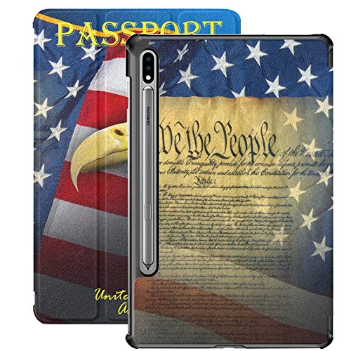 Patriotic Symbols - Funda para Samsung Galaxy Tab S7/S7 Plus Samsung S7 con soporte para Samsung Galaxy Tab A de 11 pulgadas S7 Plus de 12,4 pulgadas