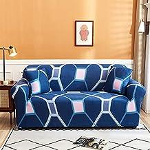 Housse de canapé combinée élastique extensible floral nordique, housse de canapé antidérapante étroitement enveloppée, hou...