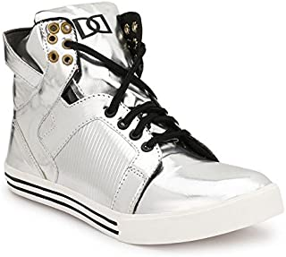 Parmar Foot Style Men's Silver Casual Sneaker Hip Hop Shoe